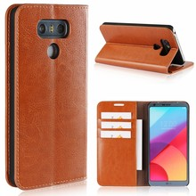 Best Products Cell Phone Accessory Luxury Real Leather Book Wallet Phone Cover For LG G6 Case H870 H873