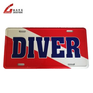 embossed metal Wholesale High Quality license number plate