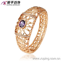51115-xuping luxury 18k gold color with CZ stone cheap wholesale bangles
