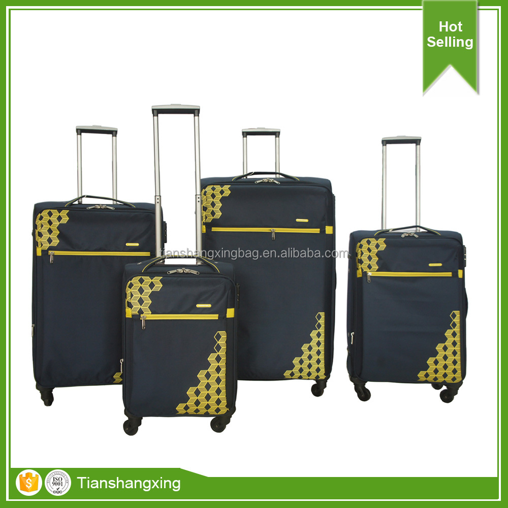 Business luggage trolley bags fabric travelling luggage set factory