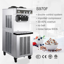 S970F Pasmo three compressor CE ETL pre-cooling and agitator ice cream machine