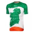 unique tricolour map design personalised high quality Dye-sublimation Printing sports jersey custom wholesale with best price