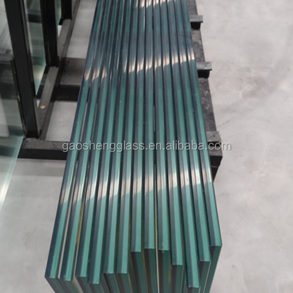 8mm clear tempered+1.52pvb+8mm clear low-e tempered laminated glass