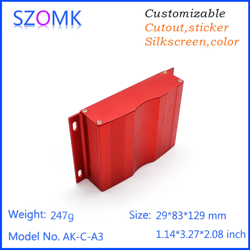 aluminum profile junction enclosure aluminum distrubition enclosure for electronic project