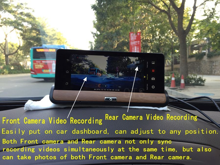 7-inch Android 5.1 MTK8382 Quad core 3G Car dvr gps navigation