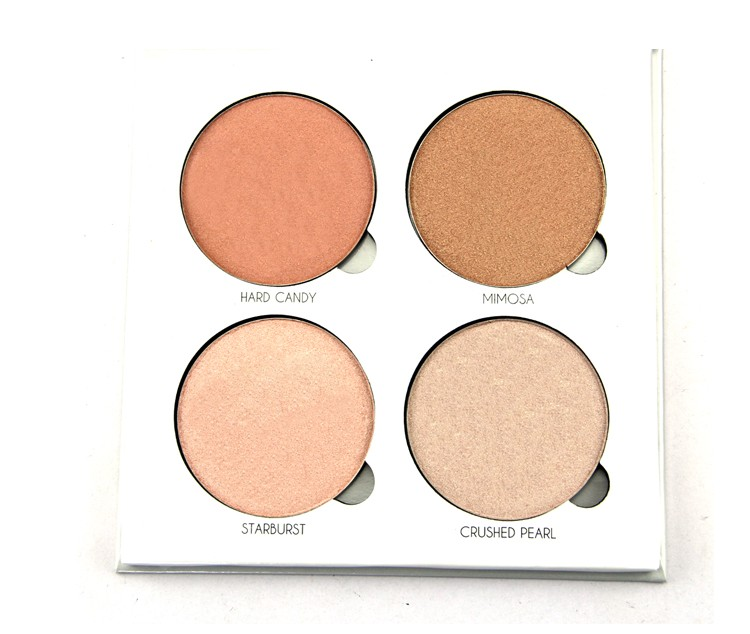 4 color metallic powder palette highlighter hot