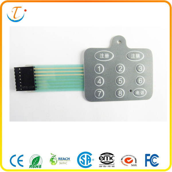 PET keypad waterproof membrane switch