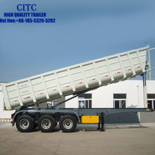 low price 3 axle u shape dump semi truck trailer with high quality