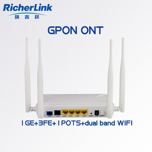 New products GEPON ONU 1GE+3FE+VOIP+WIFI(2.4G+5G) dual band