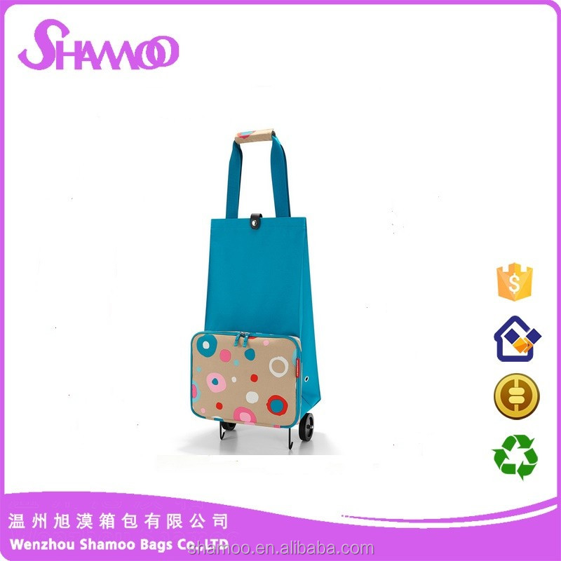 Portable shopping bag shopping trolley bag with wheels