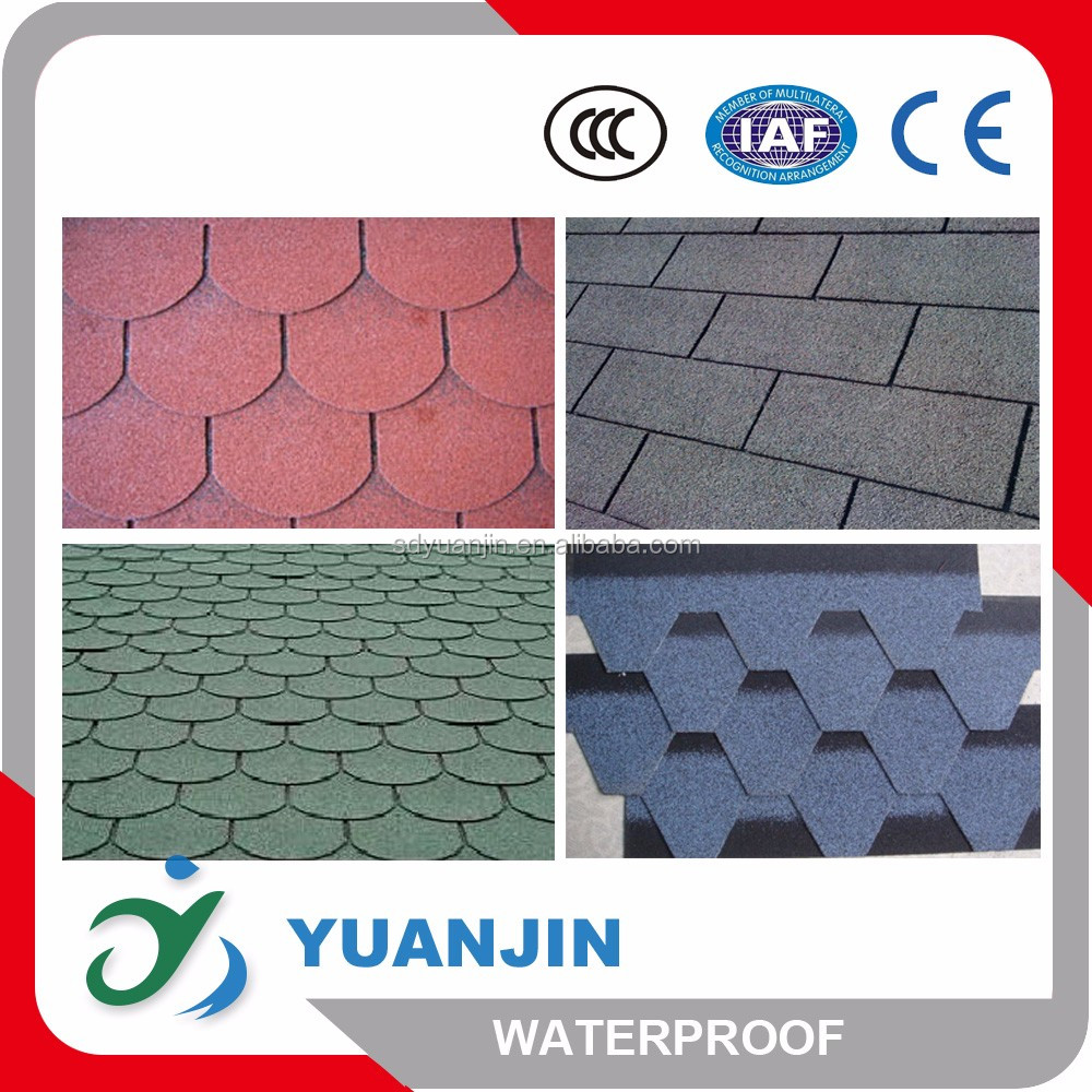 round colorful asphalt shingle sheets made in China