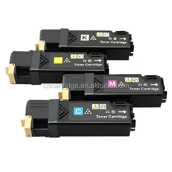 Compatible Xerox laser printer wc6505 toner, Refilled toner cartridge 106R01601 106R01602 106R01603 106R01604