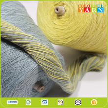 Popular cotton polyester blended TC slub yarn