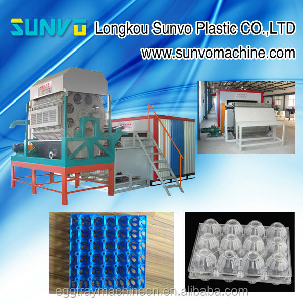 Fully Automatic Paper Rotary Pulp Molded Egg Tray / Coffee Cup Tray Making Machine