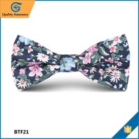 Cotton with Beautiful Flower Customized cotton bow ties online