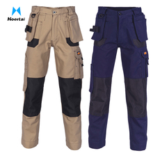 Customize Cotton Duck Weave Cargo Pants with Multi Functional Pockets