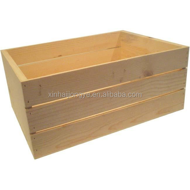Solid pine wood vintage wine crates x0616 buy wooden for Where to buy used wine crates