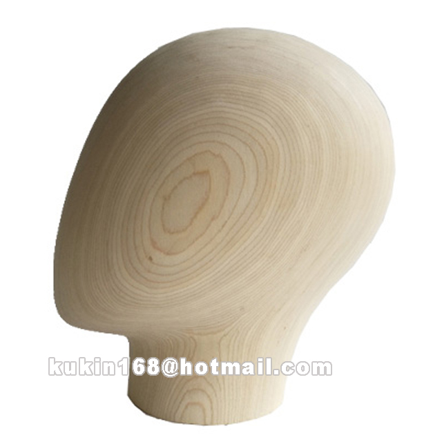 Wooden mannequin head, Egg head model used for high end display mannequin