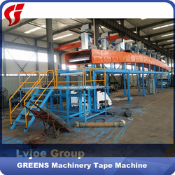 fully automatic big roll bopp gum packing tape jumbo roll making machine