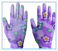 Hand protective Promotional Cleanroom PU Coated Polyester Gloves