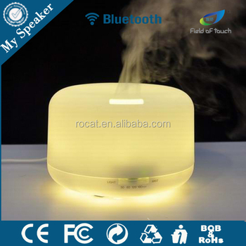Model H20 high end air humidifier led bluetooth speaker mist spray