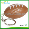 Imprinted American Football Key Chain Stress Ball