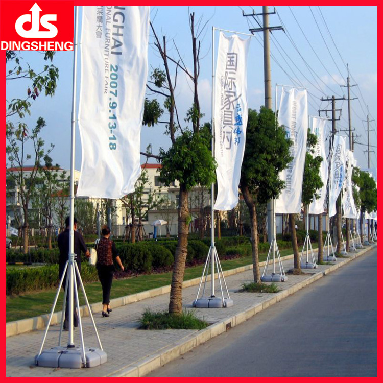 telescopic outdoor flag pole stands with water base
