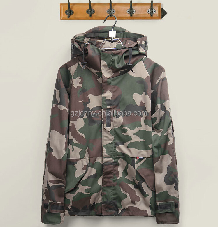 Wholesale Men/Women Lovers Windbreaker Windproof Coat Custom Fashion Camouflage Jackets