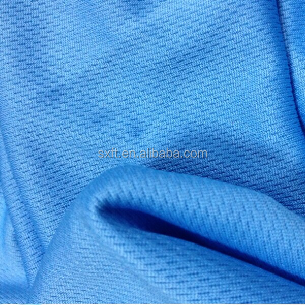 100% polyester dry fit fabric & bird eye mesh fabric