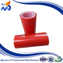 High Quality PET Double Sided Tape with red PP liner in Laminating any size