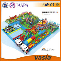 The Marvellous Set giant children indoor amusement park with fun bumper car center and inflatable bouncer for sale