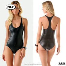 OEM Sexy Waterproof One Piece Rubber Swimsuit