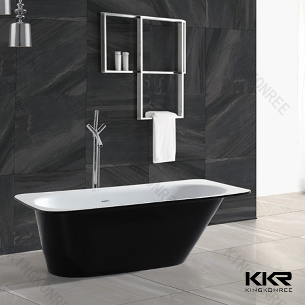 1800mm solid surface antique tin freestanding bathtub