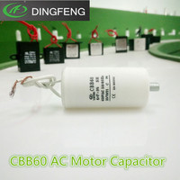 cbb60 2wires 70uf sh 450vac capacitor for water pump with screw feet