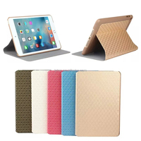 New luxury Leather Fashion Diamond Pattern Coque for ipad mini 4 Protective Shell/Skin Case