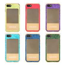 Waterproof cell phone case protective sleeve for electroplating and pasting leather
