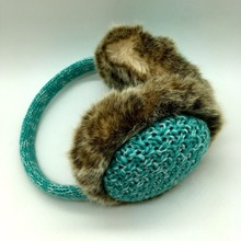 New design unisex soft plush knitted warm earmuffs