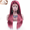 Factory Price 99j Color Straight Full Lace Wig For White Women Human Hair