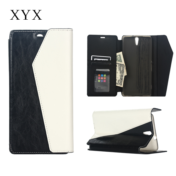 Durable leather Wallet style phone accessaries case for Sony c5 ultra, for sony flip cover