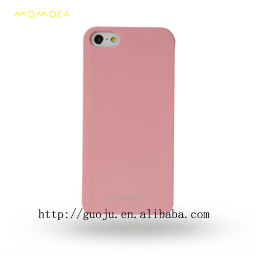 customized mobile phone case wood case Pink phone cover for iphone 5 wallet mobile case