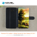 2017 New Arrival Diy Leather Sublimation Phone Case for Galaxy A7 2017