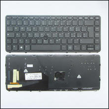 For HP EliteBook 840 G1 850 G1 840 G2 IT Keyboard black frame Backlit Italian Tastiera