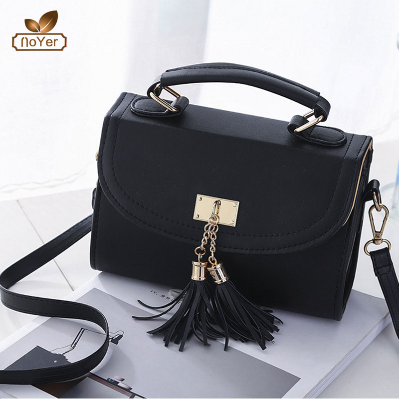 Stylish ladies leather mini hand bag with tassel custom logo shoulder <strong>handbags</strong> for women