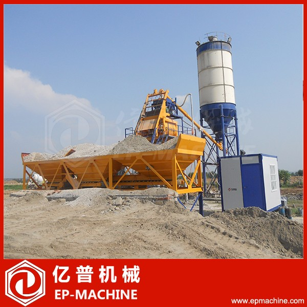 Cement mix station HZS50 stabilized soil mixing plant in Indonesia