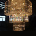 Luxury modern round crystal chandelier for hotel lobby living room