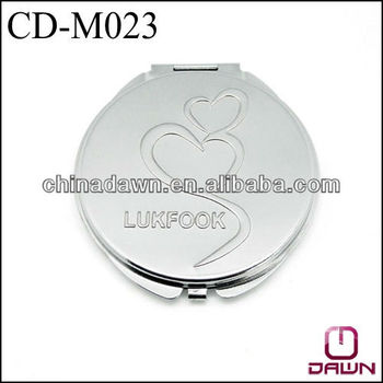 Promotional metal pocket mirror with logo stamping CD-M023