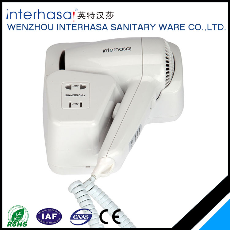 High quality professional made widely use wall mounted hotel hair dryer