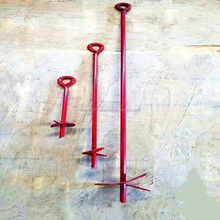 Powder coated or Galvanzied Ground post Anchor / Earth Screw Anchor
