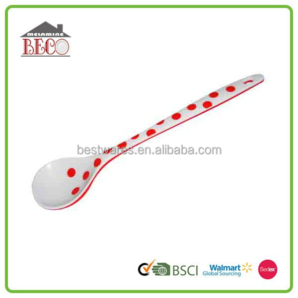 Wholesale cute melamine baby biodegradable ice cream fork spoon