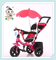 2016 new model hot sale three wheel bicycle for children with umbrella tricycle kids for high quality